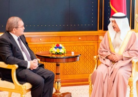 THE PRIME MINISTER OF BAHRAIN EXPRESSED SATISFACTION WITH THE POWER OF RELATIONS WITH RUSSIA