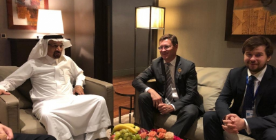 ALEXANDER NOVAK MET WITH THE MINISTER OF ENERGY, INDUSTRY AND MINERAL RESOURCES OF THE KINGDOM OF SAUDI ARABIA KHALID A. AL-FALIH.