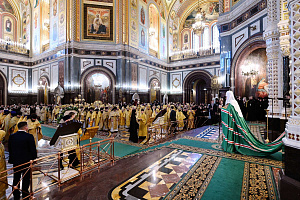 Solemn reception for the XI enthronement anniversary of the Patriarch of Moscow and all Rus Kirill