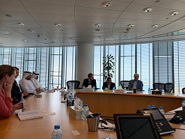 Working meeting at Abu Dhabi Investment Authority